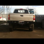 NWTI plate steel rear wrap around weld together bumper kit for 1996-2004 Toyota Tacomas