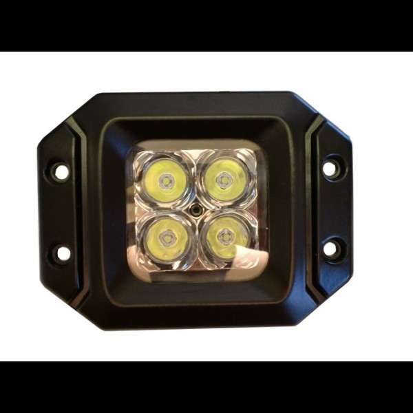 20 Watt LED Light Pair(Flange Mount) with Flood Pattern(Cree)E2 PAIR-Harness included